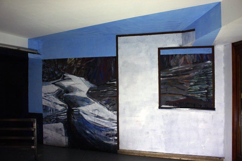 Acrylic on the wall