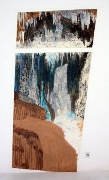 280x135cm, Acrylic&tape on plastic